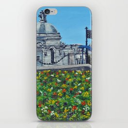 Spring at City Hall, Cardiff iPhone Skin