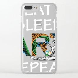 Eat Sleep Art Repeat Artist I arted Art Teacher Clear iPhone Case