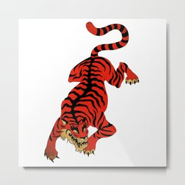 Tattoo Tiger Metal Print