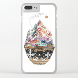 Base Camp - Himalayan Mountain Tent Village Clear iPhone Case