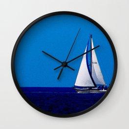 Sailing Away On Lake Michigan Wall Clock