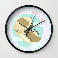 aang Wall Clocks featuring Appa - Avatar the legendo of Aang by Manfred Maroto