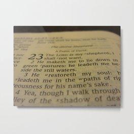 Psalm 23 King James Version Metal Print