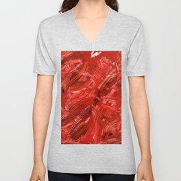 Red Chronicles #buyart #abstract Unisex V-Neck