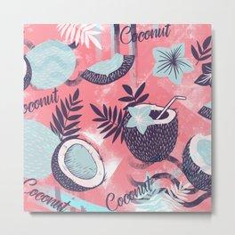 Colorful Coconut Pattern Design Metal Print