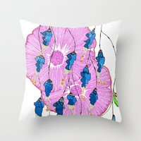 hibiscus Throw Pillows featuring Hibiscus by Gosia&Helena