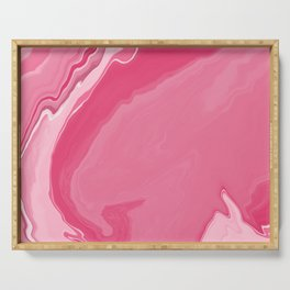 Visions of pink geode Serving Tray