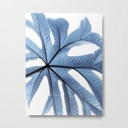 Beautiful Blue Tropical Foliage Metal Print