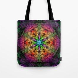 Glowing Mandala Tote Bag