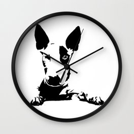 BULL TERRIER GIFTS Wall Clock