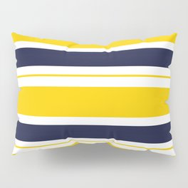 Yellow and Blue Horizontal Lines Stripes Pillow Sham