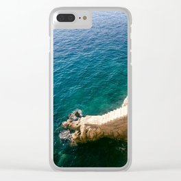 Stairs to the Sea Clear iPhone Case