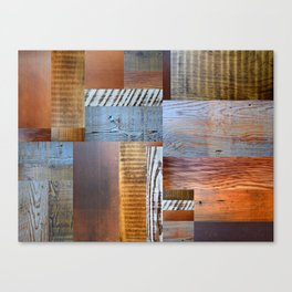 Reclaimed Wood Collage 4.0 Canvas Print