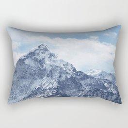 Snowy Mountain Peaks Rectangular Pillow