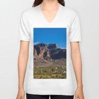 arizona V-neck T-shirts featuring Arizona by Katie Villarreal