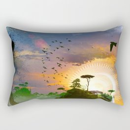 The Architect Of Time Rectangular Pillow