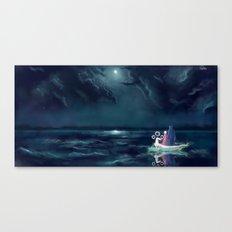 Night III - Moonsail Canvas Print