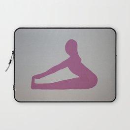 Screenprinted Yoga Art - Paschimottana  -Wild Veda Laptop Sleeve