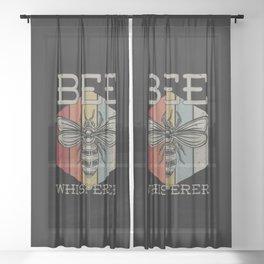 Bee Whisperer Sheer Curtain