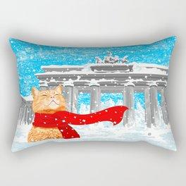 Berlin Snowcat Rectangular Pillow