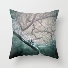 Spider Tree Throw Pillow