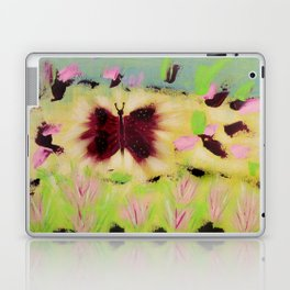 Butterfly Park: Abstract Acrylic Painting of animals Laptop & iPad Skin