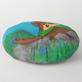 Chip on an Adventure Floor Pillow