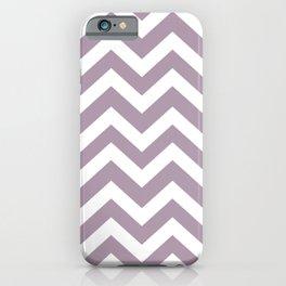 Lilac Luster - violet color - Zigzag Chevron Pattern iPhone Case