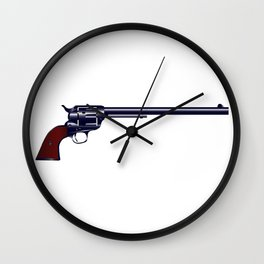 Long Barrel Six Gun Wall Clock