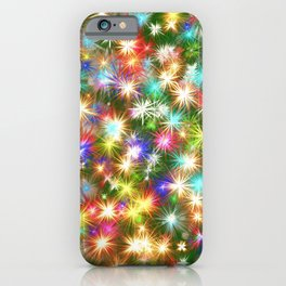 Star colorful christmas abstract iPhone Case