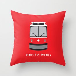 Oldies but Goodies - Old Streetcar, Toronto, ON, Canada Throw Pillow