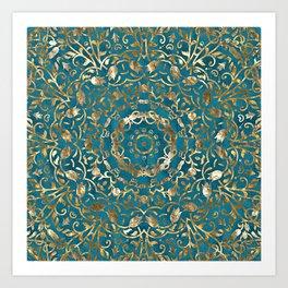 Moroccan Style Mandala Kunstdrucke