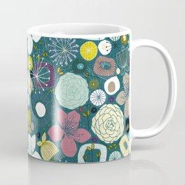 oriental blooms peacock Coffee Mug