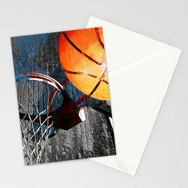Basketball wall art swoosh 115 - Basketball art print Stationery Cards