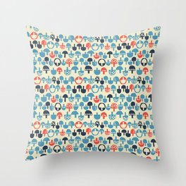Mushroom Boom Throw Pillow