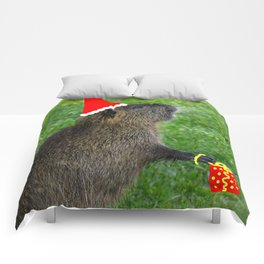 just for fun - a nutria santa ??? Comforters