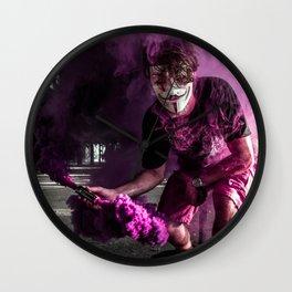 Guy Fawkes Smoke Bomb Wall Clock