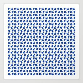 indigo leaves Art Print