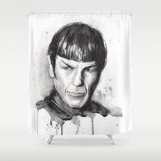 Spock Star Trek Shower Curtain