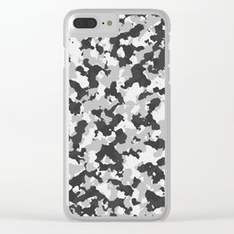 Winter Camoflauge pattern Clear iPhone Case