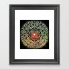 hypermandala Framed Art Print