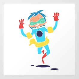 Super Hero 5 Art Print
