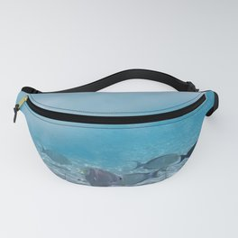 Tropical Maldives Snorkeling Fun Coral Fish In Turquoise Sea Fanny Pack