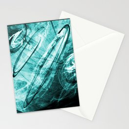 Circles (turquoise) Stationery Cards