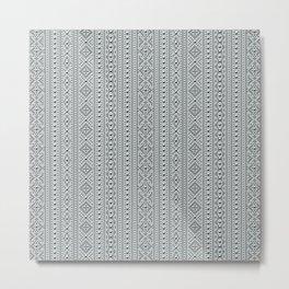 Studded Southwest Stripe in Slate Green Mist 1@50 Metal Print