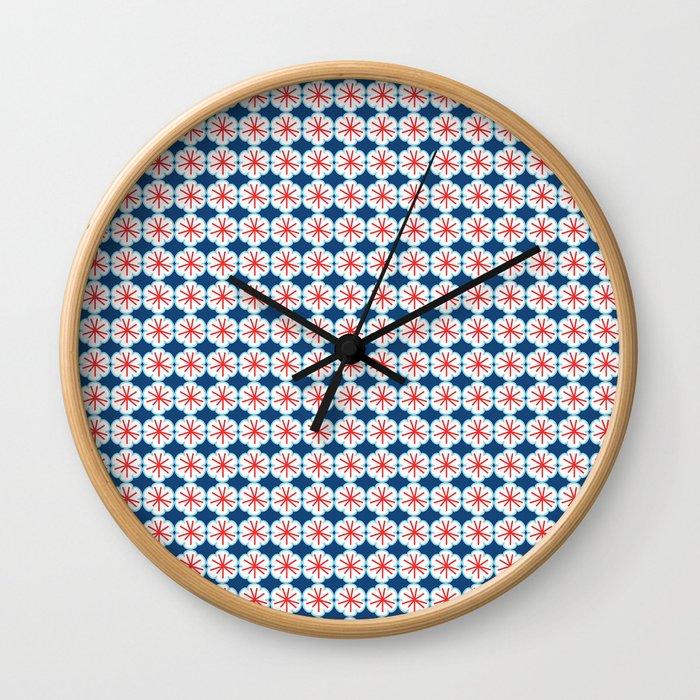 Beach Floral Wall Clock