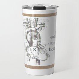 You Are Here Anatomy Heart Travel Mug