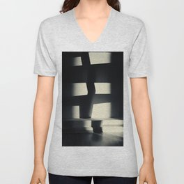 German Expressionism Experiment Abstract Shadows Unisex V-Neck