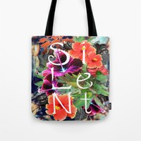 silent Tote Bags featuring Silent by tomthebigbear