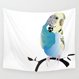 Budgie Love Wall Tapestry